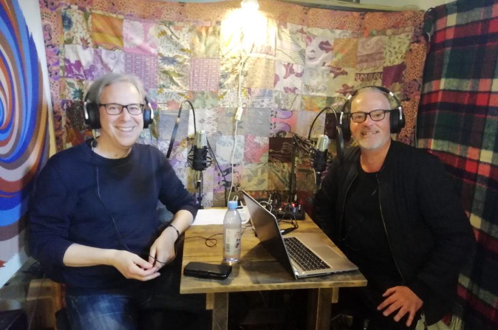 Ulf Wallgren och Jerker Petersson i lilla studion.
